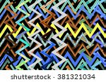 abstract decorative texture... | Shutterstock . vector #381321034