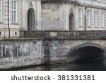front view of the main building ... | Shutterstock . vector #381331381