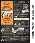 restaurant brochure vector ... | Shutterstock .eps vector #381332989