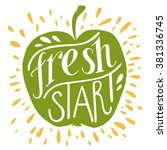 Colorful 'fresh Start' Hand...