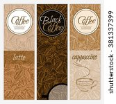 coffee banner templates black... | Shutterstock .eps vector #381337399