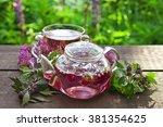 Clover Flower Tea In The Glass...