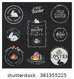 easter greeting card design...   Shutterstock .eps vector #381355225
