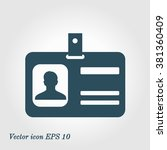 identification card icon. flat... | Shutterstock .eps vector #381360409