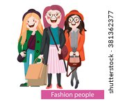 fashionable young   stylish... | Shutterstock .eps vector #381362377