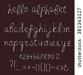 hand written alphabet with...   Shutterstock .eps vector #381363127