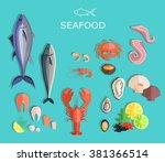 Seafood Platter Set Design Fla...