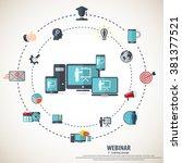 e  learning   webinar concept... | Shutterstock .eps vector #381377521