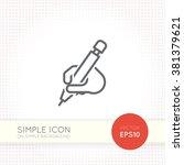 thin line design vector... | Shutterstock .eps vector #381379621