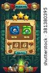 jungle shamans gui mission... | Shutterstock .eps vector #381380395