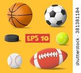 vector isolated ball. sport... | Shutterstock .eps vector #381381184