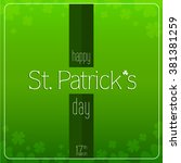saint patrick's day vector with ... | Shutterstock .eps vector #381381259