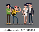 cool illustration of young... | Shutterstock .eps vector #381384334