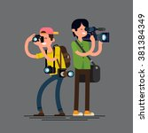 cool vector photographer and... | Shutterstock .eps vector #381384349