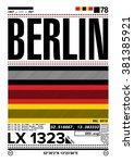 berlin  stock vector... | Shutterstock .eps vector #381385921