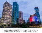 skyline panorama of city hall... | Shutterstock . vector #381387067
