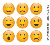 set of emoji | Shutterstock .eps vector #381402769