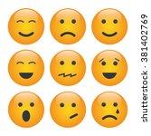 set of emoji | Shutterstock .eps vector #381402769
