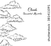 background with clouds... | Shutterstock .eps vector #381411091