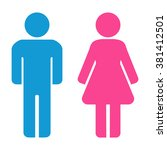 Man And Woman Icons. Restroom...