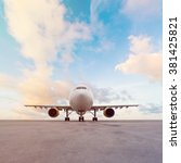 Small photo of Commercial airplane