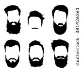 hipster beard  detailed beard ... | Shutterstock .eps vector #381426361