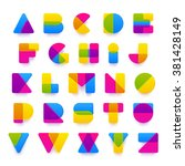 vector colorful alphabet made... | Shutterstock .eps vector #381428149