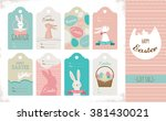 easter tag collection with... | Shutterstock .eps vector #381430021