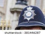 London Police Hat Badge  Closeup