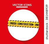 under construction design  | Shutterstock .eps vector #381448939