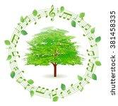 tree leaves fresh green icon   Shutterstock .eps vector #381458335