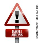 market analysis warning road... | Shutterstock . vector #381461101