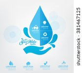 save water template concept let'... | Shutterstock .eps vector #381467125
