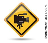 icon video camera vector