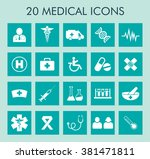 medical and healthcare icons... | Shutterstock .eps vector #381471811