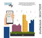 smart city design  | Shutterstock .eps vector #381475039