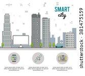 smart city design  | Shutterstock .eps vector #381475159