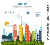 smart city design  | Shutterstock .eps vector #381475555