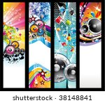 abstract colorful rainbow music ... | Shutterstock .eps vector #38148841