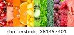 background of fruits  berries...   Shutterstock . vector #381497401