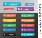 modern web buttons flat design...