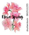 pink orchid flowers bouquet...   Shutterstock . vector #381511255