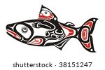 native salmon vector | Shutterstock .eps vector #38151247