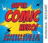 alphabet collection set. comic... | Shutterstock .eps vector #381516487