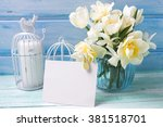 Bright White Daffodils And...