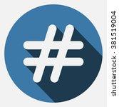 hashtags icon jpg | Shutterstock .eps vector #381519004