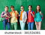 cute youngsters   Shutterstock . vector #381526381