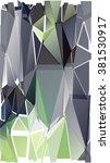 randomly scattered triangles of ... | Shutterstock .eps vector #381530917