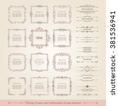 vintage frames  dividers big... | Shutterstock .eps vector #381536941