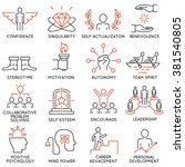 vector set of 16 icons related... | Shutterstock .eps vector #381540805